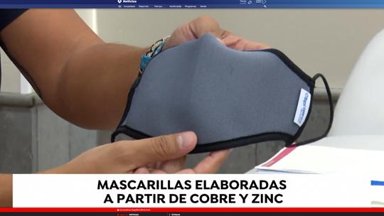 Antena 3 - Mascarillas de cobre y zinc